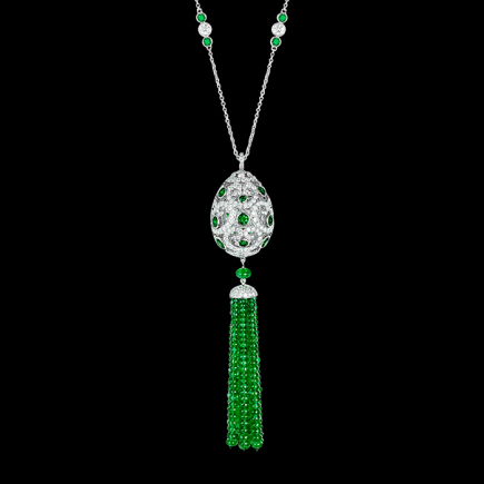 Fabergé - Collier FABERGE  « IMPERATRICE EMERALD TASSEL »