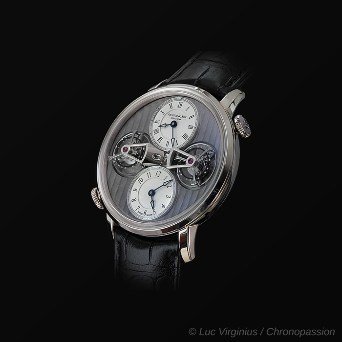 Arnold & Son - ARNOLD & SON DTE, DOUBLE TOURBILLON DUAL TIME