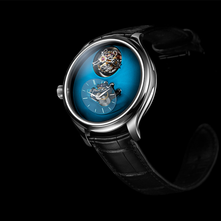 H Moser & Cie - Endeavour Cylindrical Tourbillon H. Moser × MB&F Funcky Blue