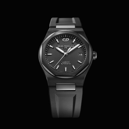 girard perregaux - LAUREATO 38MM BLACK CERAMIC 81005-32-631-FK6A