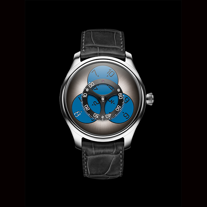 H Moser & Cie - H.MOSER & CIE, ENDEAVOUR FLYING HOURS SUPERLUMINOVA® BLUE 1806-0202