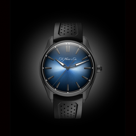 H Moser & Cie - H. Moser & Cie THE PIONEER Centre Seconds Funky Blue Black Edition 3200-1205
