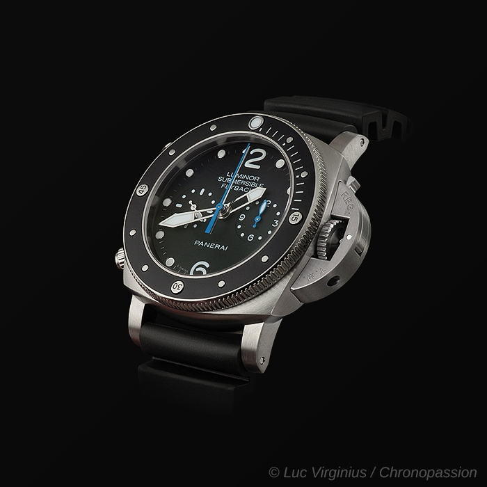 officine panerai  - PANERAI SUBMERSIBLE RATTRAPANTE PAM00615