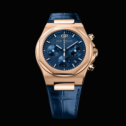 girard perregaux - GIRARD PEREGAUX LAUREATO CHRONOGRAPHE 42MM OR ROSE 81020-52-432-BB4A