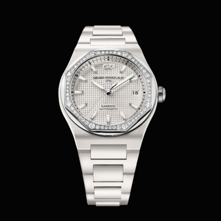 girard perregaux - GIRAD PERREGAUX, LAUREATO 38MM CERAMIC DIAMONDS 81005D82A732-32A