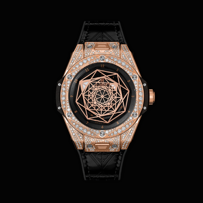 hublot - HUBLOT, BIG BANG ONE CLICK SANG BLEU KING GOLD PAVÉ 39MM 465.OS.1118.VR.1704.MXM18