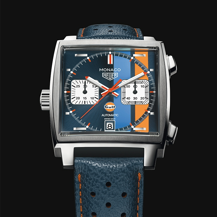 tag heuer monaco gulf edition de tag heuer chronopassion. Black Bedroom Furniture Sets. Home Design Ideas