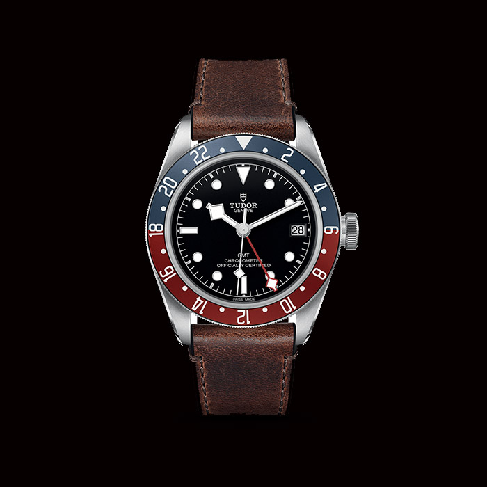Tudor - Tudor Black Bay GM sur cuir 79830RB