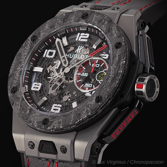 hublot big bang unico ferrari de hublot chronopassion. Black Bedroom Furniture Sets. Home Design Ideas