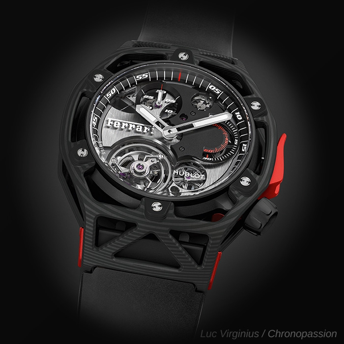 hublot techframe ferrari carbone de hublot chronopassion. Black Bedroom Furniture Sets. Home Design Ideas